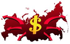 Money From Russia Stock Photography