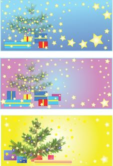 Free Christmas Tree In Card Royalty Free Stock Photos - 6786778