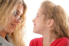 Free Mother Looking At Little Girl Royalty Free Stock Photos - 6787848