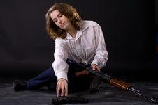 Free Woman With Guns Stock Photo - 6787950