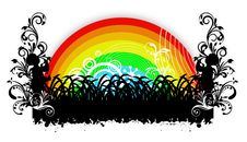 Free Rainbow And Floral Stock Photography - 6787962