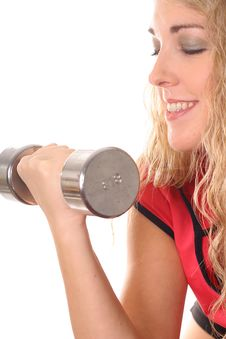 Free Woman Working Out Vertical Smile Royalty Free Stock Photos - 6787998