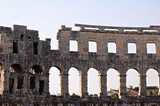 Free Pula Amphitheater Stock Image - 6788001