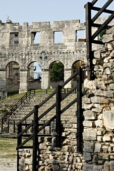 Pula Amphitheater Royalty Free Stock Photography