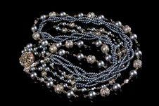 Free Imitation Jewelry On Black Royalty Free Stock Images - 6788109