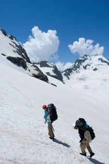 Free Couple Of Mountain Tourist Stock Photos - 6789453