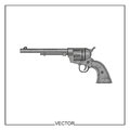 Free Vector Illustration Of An Old Revolver Stock Images - 67897664