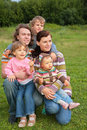 Free Family Of Five Portrait On Grass Royalty Free Stock Photo - 6792755