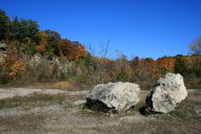 Landscape With Rocks Royalty Free Stock Photography