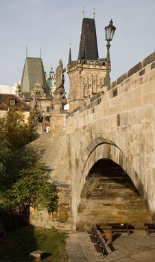 Charles Bridge Arch Royalty Free Stock Photo