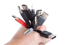 Free Usb Cables In Hand Royalty Free Stock Images - 6790279