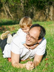 Free Father And Son Outdoor Royalty Free Stock Image - 6790696