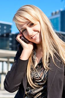 Free Portrait Of A Woman Talking On A Phone Stock Photo - 6790740