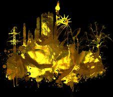Free Grunge Cityscape Royalty Free Stock Image - 6790896
