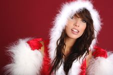 Free Santa Girl Stock Photo - 6790950