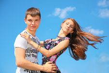 Free Boy And Girl Embrace Each Other Royalty Free Stock Photos - 6791568