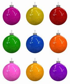 Free Nine Christmas Balls Royalty Free Stock Images - 6791629