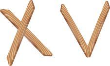 Free Wood Icons Royalty Free Stock Photo - 6791685