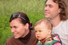 Free Parents With Child On Nature Royalty Free Stock Photo - 6791735