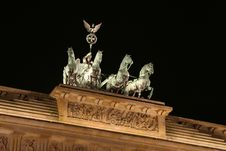 Free Quadriga At Night Royalty Free Stock Photo - 6791825