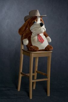 Chair And Toy With Western Hat Stock Photo