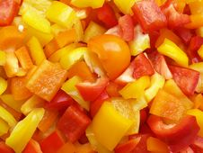 Sliced Peppers Royalty Free Stock Image