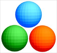 Free Red, Green And Dark Blue Spheres Stock Image - 6792351