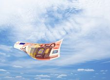 Money Falling From Blue Sky Royalty Free Stock Photography
