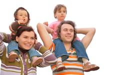 Free Parents With Children On Shoulders Royalty Free Stock Photos - 6792538