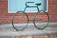Green Bike Rack Stock Image