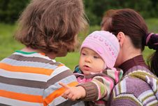 Free Parents With Child On Nature Royalty Free Stock Image - 6792916