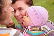 Free Parents With Child On Nature Stock Photos - 6792973