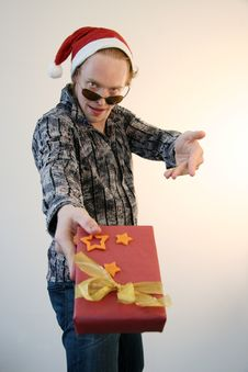 Show-off Wild About Xmas Present Royalty Free Stock Photography
