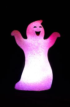 Free Pink Glowing Ghost. Stock Images - 6793434