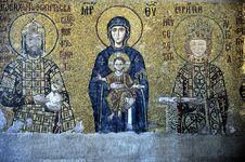 Free The Comnenus Mosaics, Hagia Sophia, Istanbul Stock Images - 6793484