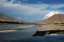 The Lhasa River Stock Photo