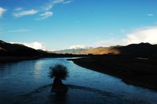 The Lhasa River Royalty Free Stock Images