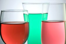 Free Glass With Colorful Juice Stock Photography - 6794162