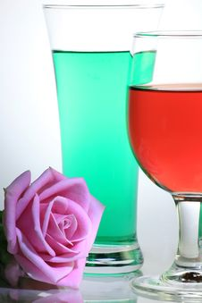 Free Rose With Glass Royalty Free Stock Photos - 6794328