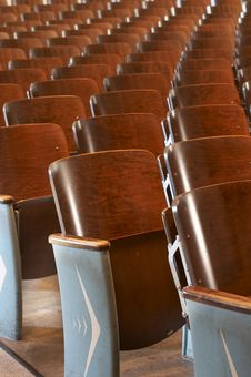 Free Chairs In A Row Royalty Free Stock Photo - 6794375