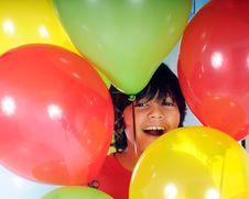 Balloon Boy Stock Photo