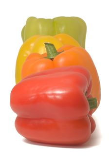 Sweet Pepper Isolated On White Royalty Free Stock Photo