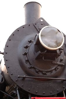 Old (retro) Steam Engine (locomotive). Royalty Free Stock Images
