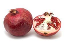 Free Pomegranate Isolated On White Stock Image - 6795901