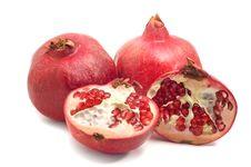 Free Pomegranate Isolated On White Stock Photos - 6795903