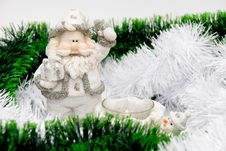 Santa And Snowman Stock Images