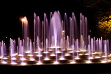 Free Illuminated Fountain Royalty Free Stock Image - 6796456