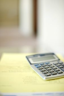 Free Calculator On Desk Stock Photo - 6796470