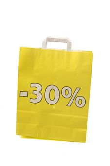 Free Yellow Shopping Bag With 30  Discount Royalty Free Stock Image - 6796506