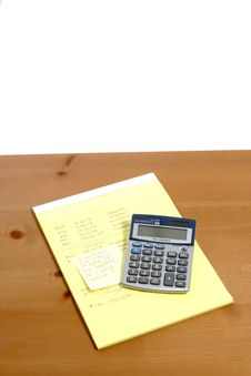 Free Calculator On Desk Stock Photography - 6796662